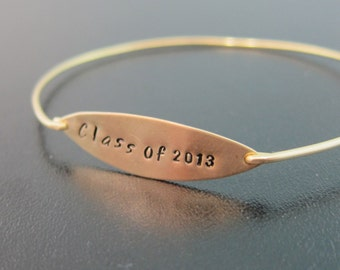 Choose Your Year, Graduation Bracelet, College Graduation Jewelry Gift, High School Graduation, College Graduation Gift Idea, Class of 2016
