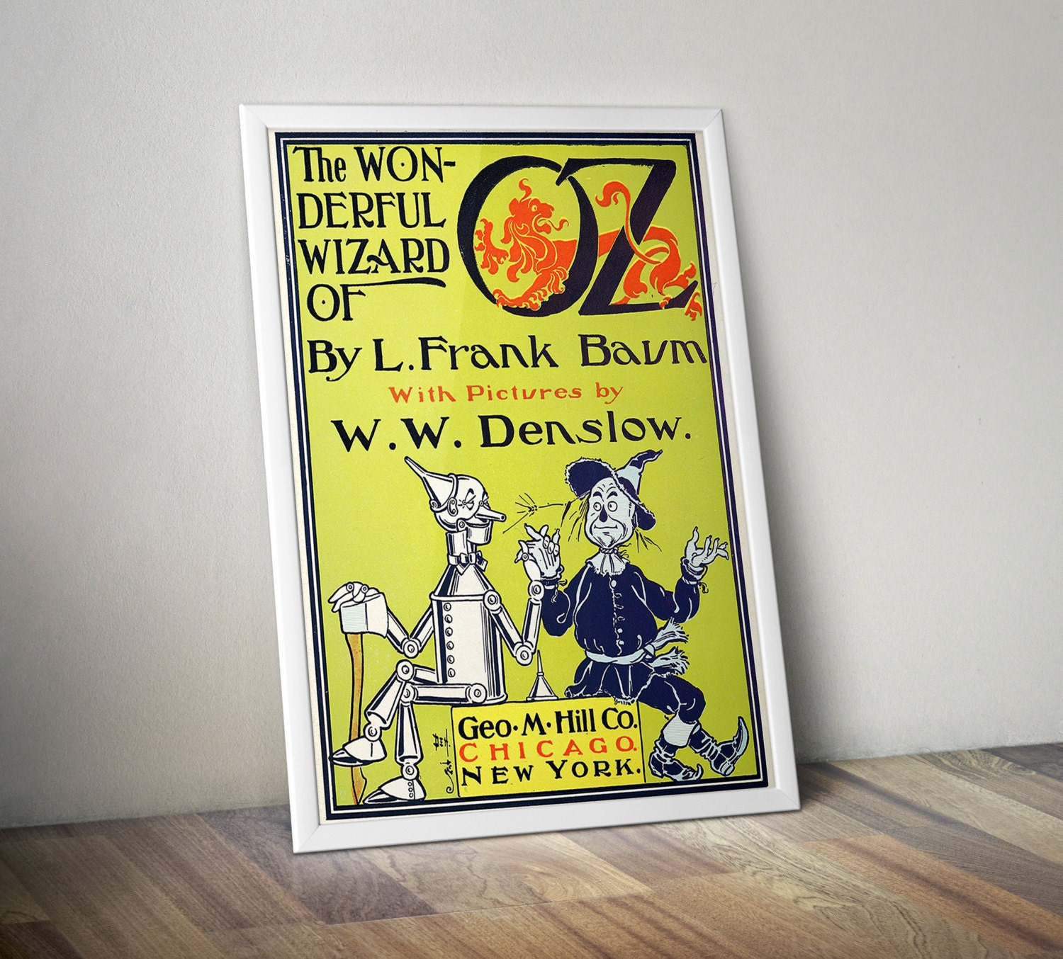 Wizard of Oz Gift Literary Gifts Wizard of Oz Poster Book