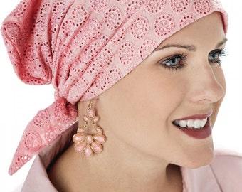 100% Cotton Emma - Pre-Tied Scarf - Cancer Chemo Scarves - Head Covering Scarfs, Headcovers, Chemotherapy, Alopecia, Hair Loss