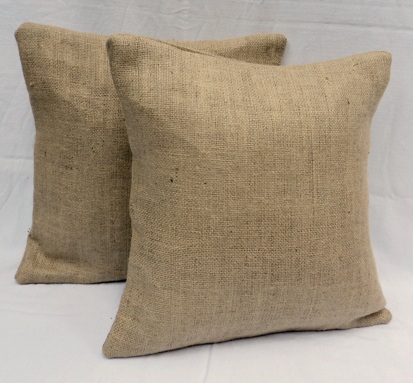 Burlap Pillows Set of 17 17 x 17 Burlap Throw