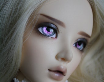 BJD eyes Doll eyes Hand made available in 12/14/16/18/20/22/24mm Bon Bon Pink made to order