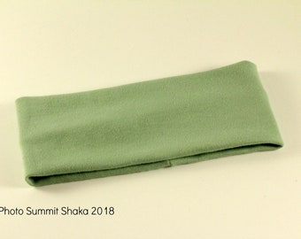 Organic Cotton Baby Headband, Headwrap, Wide, Soft, Comfortable Stretch, Hair Accessories, Sage Green