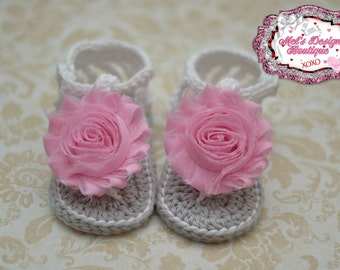 Baby sandals, crochet baby shoes, baby girl crochet sandals girls crochet sandals summer sandals 6-12 month ready to ship baby shower gift