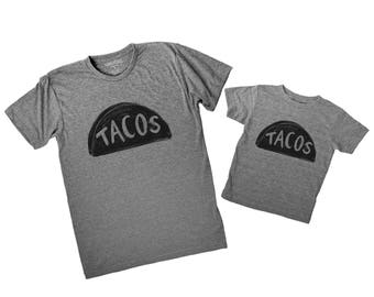 Taco Shirts Matching Set - Father's Day Gift - Matching T Shirts - Dad Daughter - Father Son - Taco Twosday - Food shirts - Family Shirts