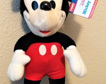 "Vintage 15"" Stuffed Playskool Plush Disney Mickey Mouse W/Red Pants Nwt"