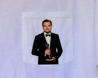 Leonardo DiCaprio - Oscar - Pocket T-shirt