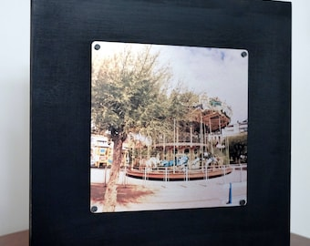 Carousel Dream - San Sebastian, Spain - Metal Print Photo Mounted on Wood Frame