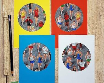 Marathon runner card, runner card, card for runner, running card, card for runners, card for a runner, running medal holder, good luck,