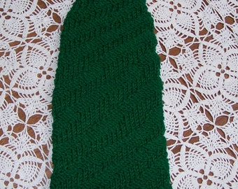Kelly Green Spiral-Knit Hat