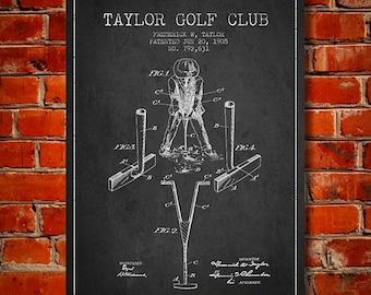 1905 Golf Club Patent, Canvas Print,  Wall Art, Home Decor, Gift Idea