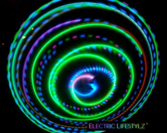 SALE!! X-Mas delivery guaranteed  - Seamless Connection - Neon Paradise -  LED Hula Hoop