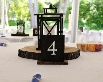 Wood table numbers- Wedding, Parties