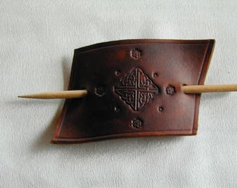 Leather Hair Slide