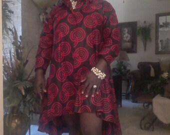 Black & Red High Low Dress
