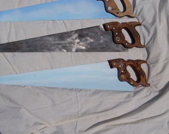 Vintage Old Hand Saw ready for custom request only 1 saw left includes painting it