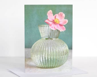 Photo greeting card, Photographic greeting card. Abemone Photographic Greeting Card. Blank card. Floral greeting card. Flower greeting card.