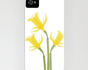 Daffodil flowers on Phone Case - daffodils, Spring, Phone case,  iPhone 6S, iPhone 6 Plus, floral case, Samsung Galaxy S7, Gifts for her