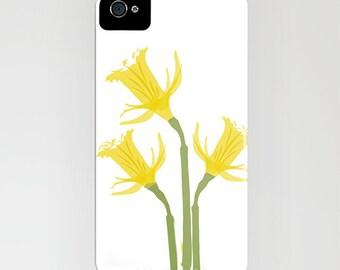 Jonquille de fleurs sur la housse de portable - jonquilles, le printemps, le téléphone de la caisse, iPhone 6, iPhone 6 Plus, cas de floral, Samsung Galaxy S7, cadeaux pour elle