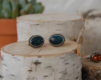 Dark Hubei Turquoise Cufflinks