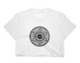 Women's Mandala Crop Top, Metaphysical, Yoga, Spiritual AF