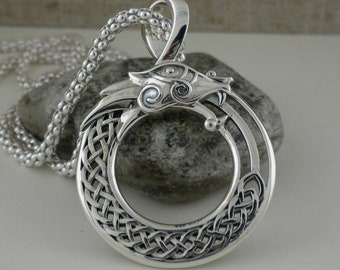 Norse Forge Celtic Dragon with Black CZ