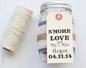 S'MORE Love Favor Stamp for Tags Wedding Favor Tags Shower Favor Vintage Wedding Custom Personalized Calligraphy Stamp