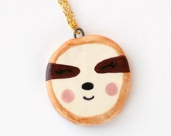 Sloth - Ceramic Animal Necklace