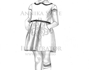 Nora, coloring page