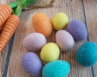 Pastel Wool Felt Easter Egg, felted egg, Easter Egg, Bird egg, Felted eggs, Easter Craft Supplies
