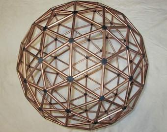 3V Geodesic Sphere - Geodesic Buckminster Sculpture - Truncated Icosahedron L1