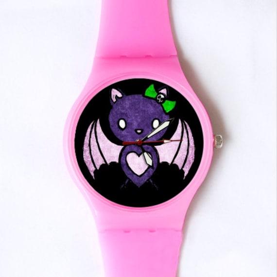 Hello Batty swatch style watch