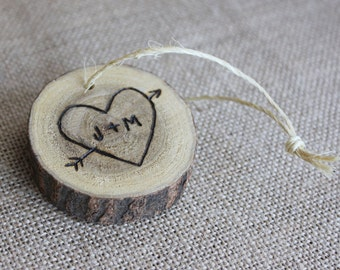 Custom Christmas Ornament, Personalized Wood Burned Ornament, Wooden Gift Tag, Rustic Christmas Decorations, Unique Gift Ideas
