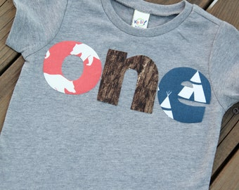 First Birthday Nature Shirt, Camping First Birthday Shirt, Bear First Birthday Shirt, Tepee Birthday Shirt