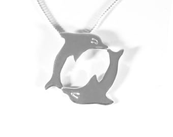 Silver necklace pendant sterling chain 925 necklaces dolphin charm pendants best friend new gift jumping dolphins