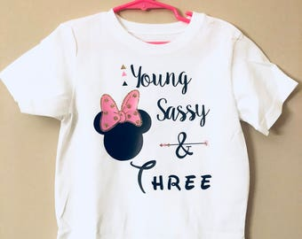 Minnie Mouse birthday shirt
