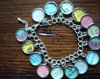 Vintage Disney tickets charm bracelet