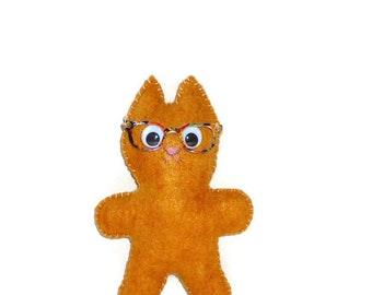 Cat plush, stuffed animal cat, orange cat, gift for her, gift for mom, Mothers day gift, handmade, gift for coworker, cute cat, cute plush