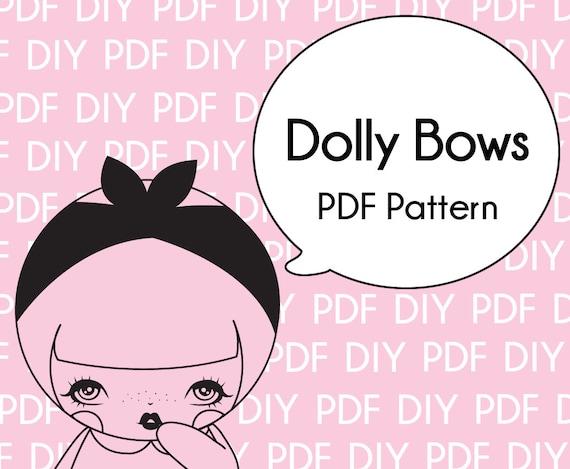 Dolly Schleife DIY Muster-Druck-PDF Download