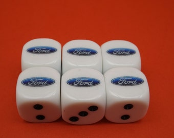 6 Custom 6 Sided Dice Your Logo or Picture