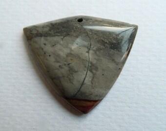 Sleek arrow ,shield shape, Succor Creek Jasper pendant bead,Artisan designer piece