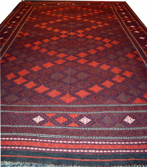 14'43 X 9'18 Sumak Rug Afghan Kilim Hand-woven