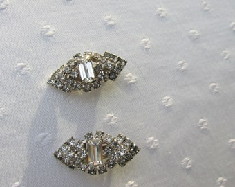 Beuiful Rhinestone Clip On Earrings