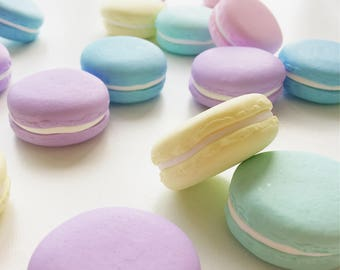 10 x 30g Pastel Macaron Pattern Weights | Great Sewing Gift for Birthdays | Handmade with Polymer Clay by Oh Sew Quaint |
