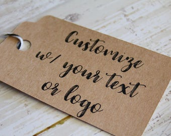 YOUR TEXT HERE, Your Logo Here, Wedding Favor Tag, Branding Tag, Marketing