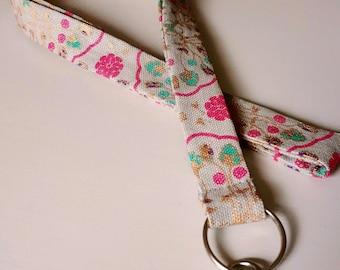 Lanyard, Grey/Pink/Turquoise/Golden/Sparkle Lanyard, Handmade Lanyard for ladies, 100% cotton