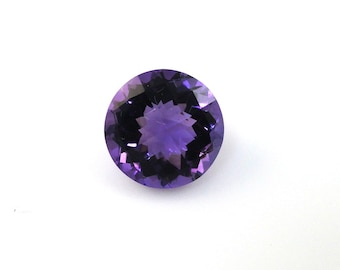 Amethyst Round Shape 11mm Approximately 4 Carat, February Birthstone, Dark Purple Lilac color Sobriety Stone, Deep Purple Color (2835)