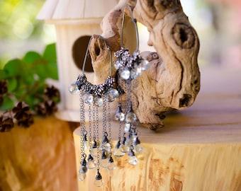 Light Blue Topaz Briolette Drop Earrings