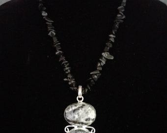 Agate double pendant
