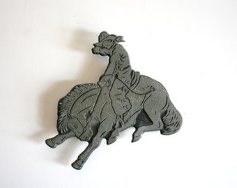 Rodeo Cowboy Leather Embossing Stamp