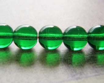 Kelly Green Beads Smooth Round Druk 20 Beads